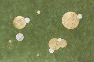 金箔・樹脂の創作加飾デザイン和紙(G-714)