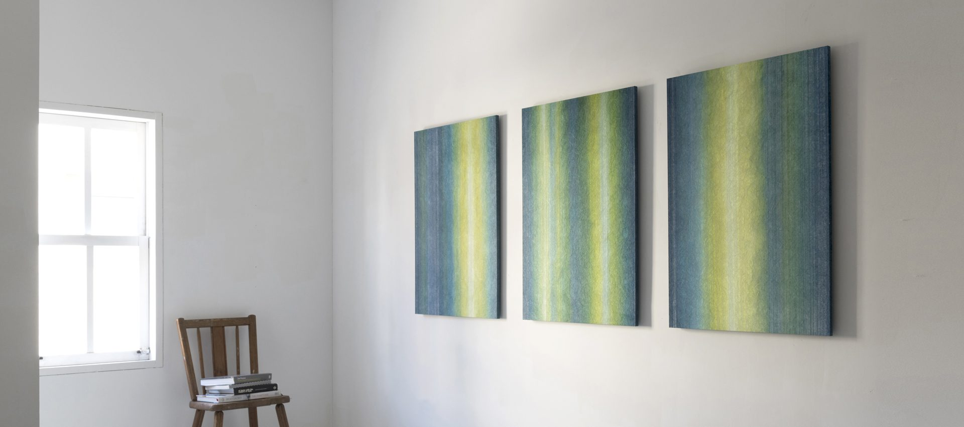 「静」和紙インテリアアートパネル(大サイズ画像)
