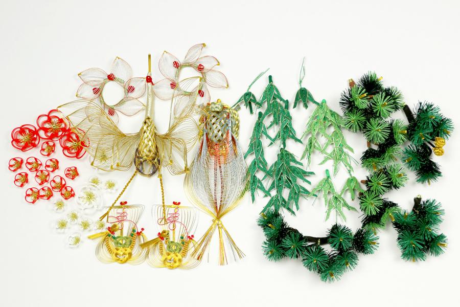 梅飾りが栄える結納水引飾りリメイクパネル(山口県O様)6