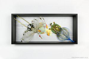 シルバー色の結納水引飾りリメイク額(大阪府K様)1