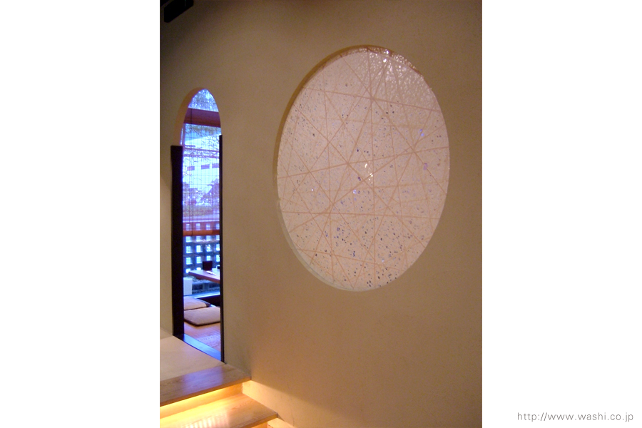 空間装飾/和紙パーティション(紙糸入)4