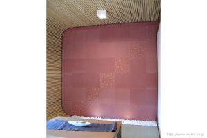 空間装飾/和紙壁紙(ベンガラ)本金入り1