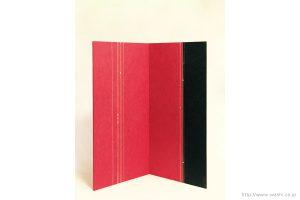 空間装飾/2色和紙屏風(赤・黒)1
