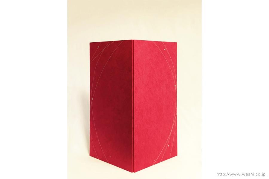 空間装飾/2色和紙屏風(赤・黒)2