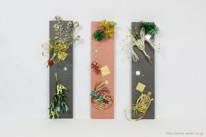 結婚式にご両親へのプレゼントとして制作した、水引リメイクパネル(大阪府)水引設置時、正面
