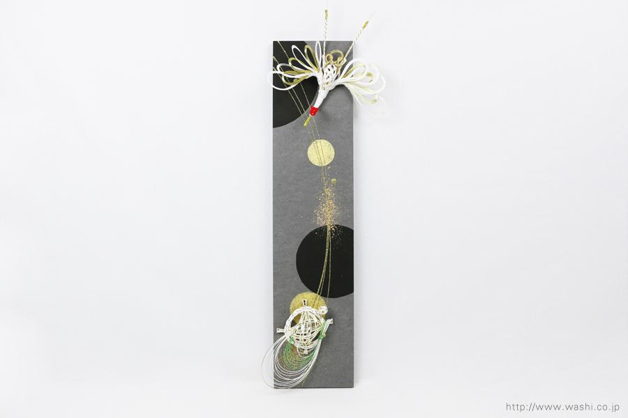 ご祝儀袋と結納品の水引リメイク(アートパネルタイプ)鶴亀の水引飾り