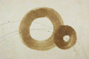 漆の創作加飾デザイン和紙(U-704)