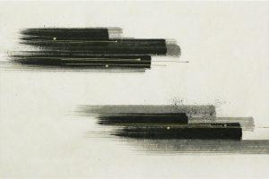 墨金彩の創作加飾デザイン和紙(S-707)