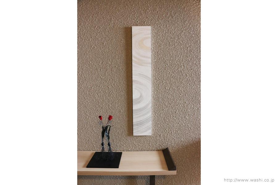 和紙アートパネル washi art panel 波紋柄