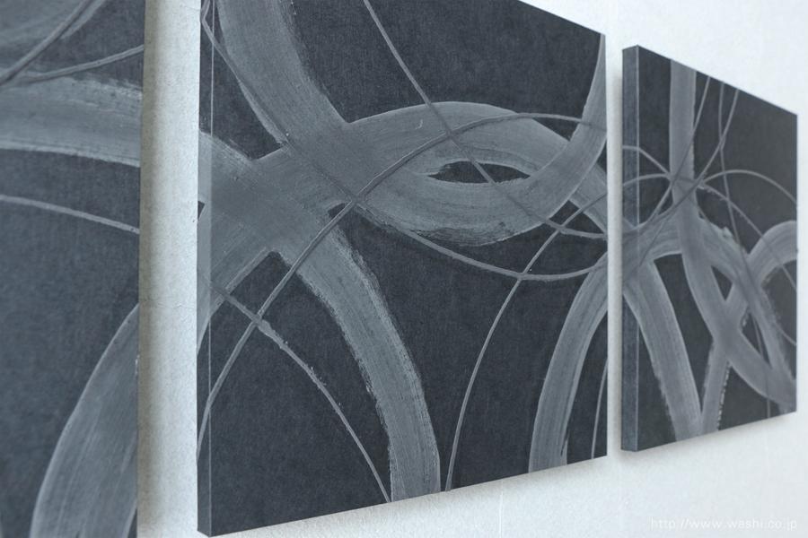 珪藻土デザイン和紙アートパネルJAPANESE PAPER ART PANEL For restroom / Diatomaceous earth (珪藻土)デザインアップ