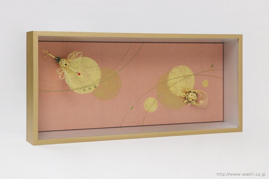 結納品の水引リメイクアートボックス(立体額)鶴と亀