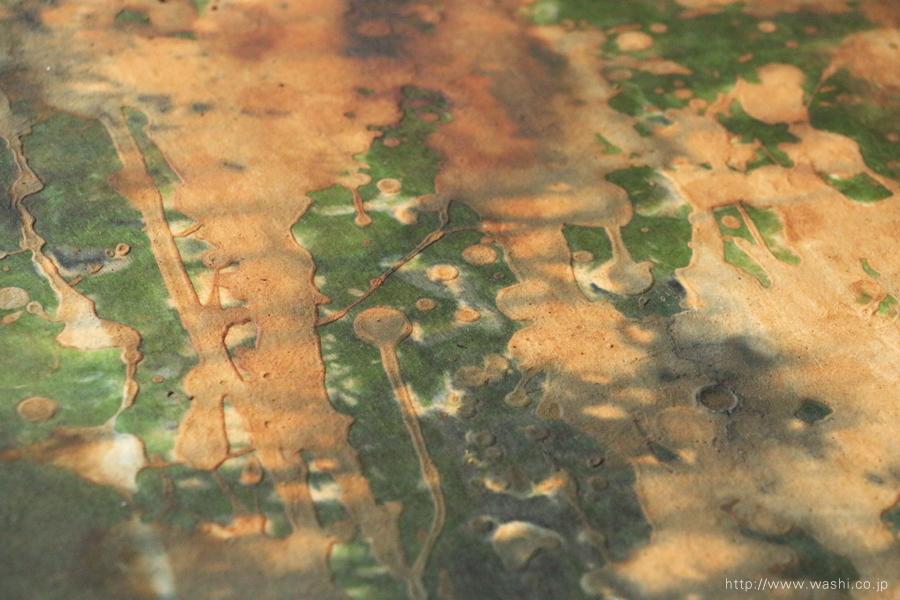 わびさび和紙アートパネル インテリア装飾- Wabi-Sabi Washi Art Panel(漆と珪藻土の濃淡)