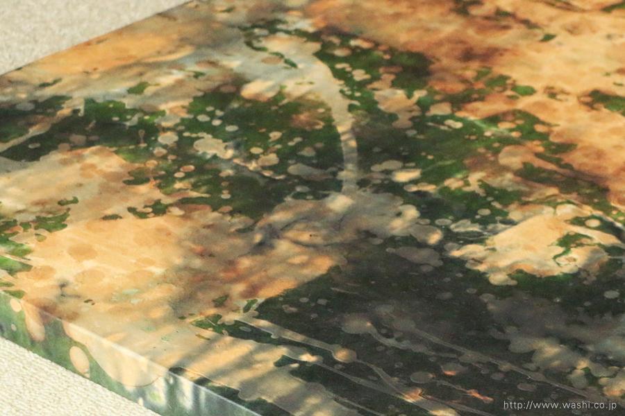 わびさび和紙アートパネル インテリア装飾- Wabi-Sabi Washi Art Panel(デザイン部分アップ)