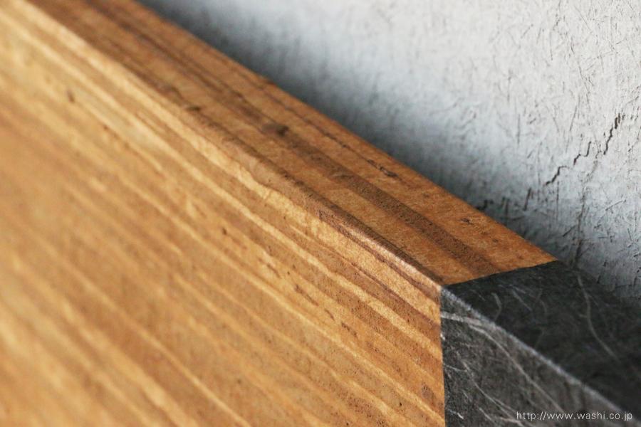 オフィスインテリアの和紙アートパネル 室内装飾- Wabi-Sabi Washi Art Panel(角部分)