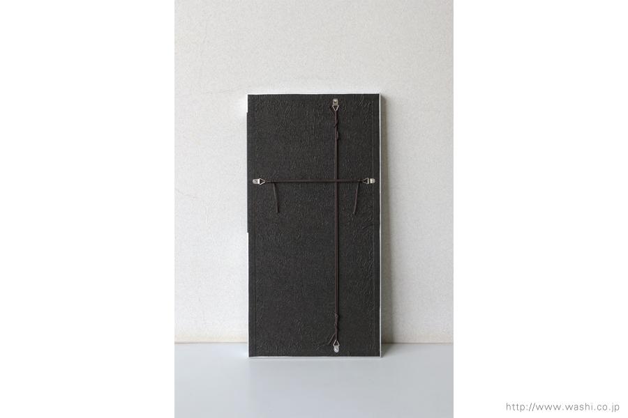 ご自宅の階段ウォールアート和紙パネル washi art panel スタイリッシュな銀箔紙ベース(裏面)