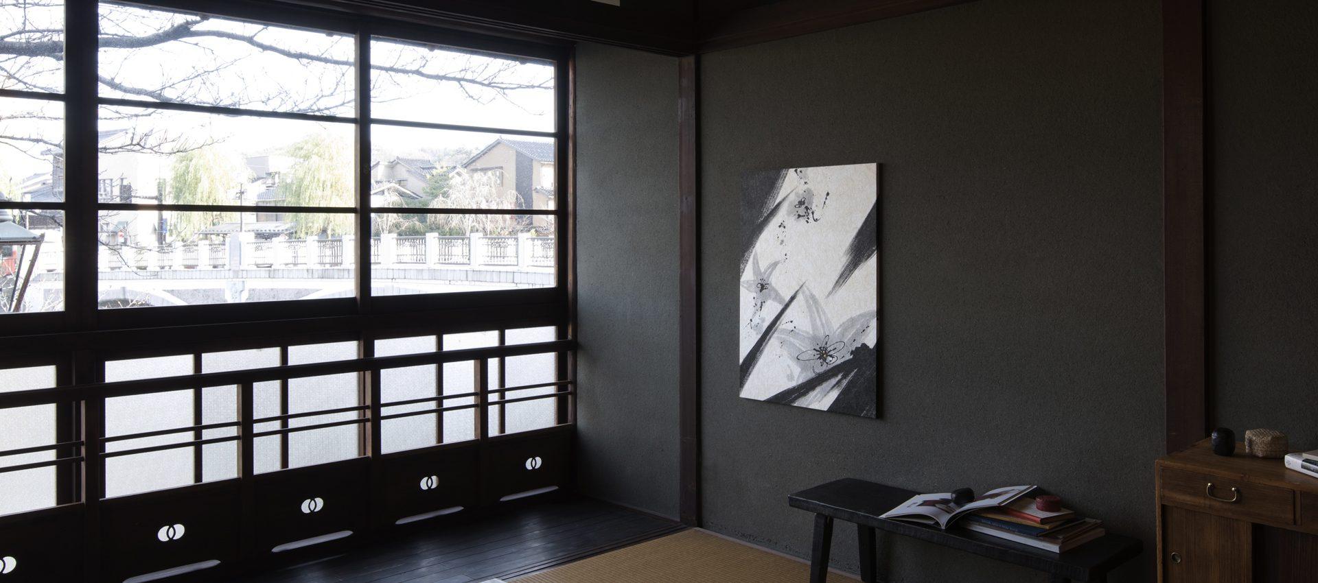 「風花」和紙インテリアアートパネル(大サイズ画像)