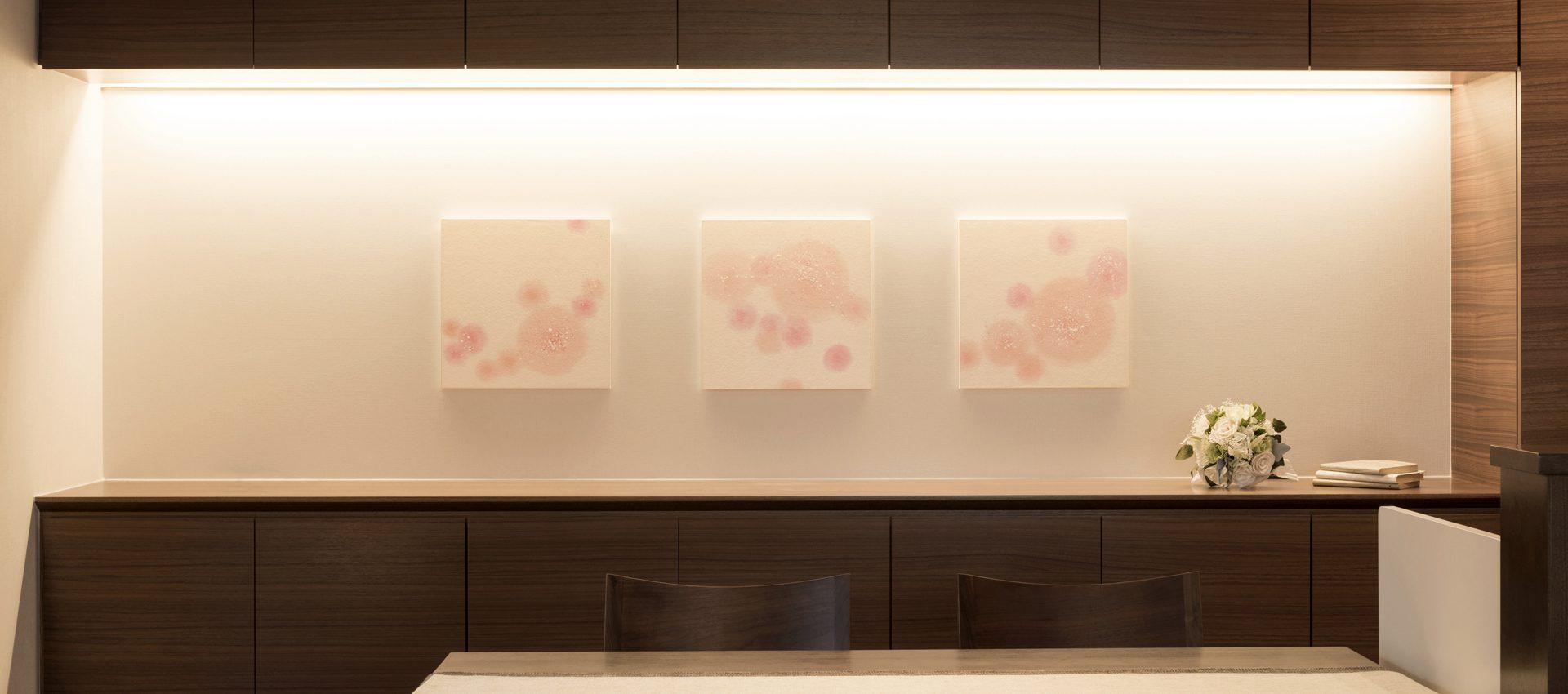 「春風」和紙インテリアアートパネル(大サイズ画像)