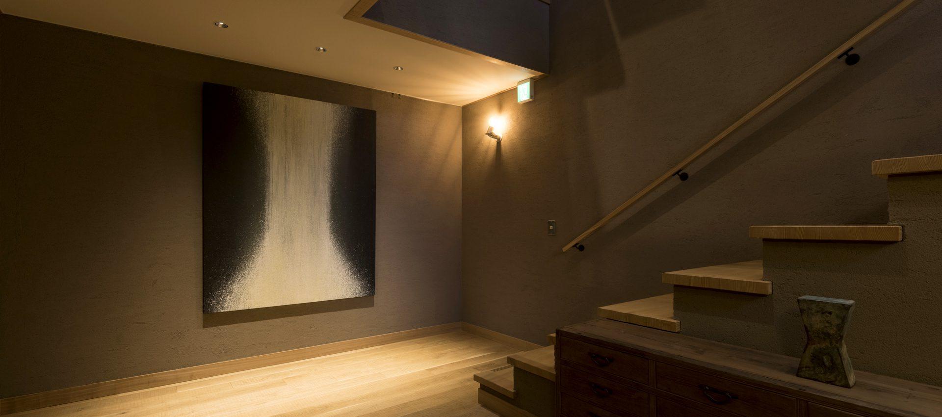「滝」和紙インテリアアートパネル(大サイズ画像)