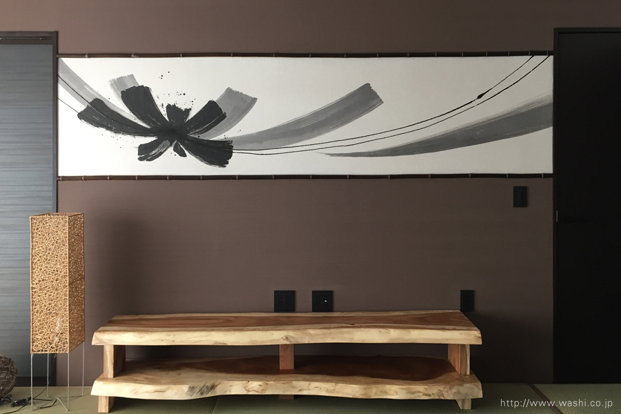 空間装飾/創作和紙壁紙(墨書入)1
