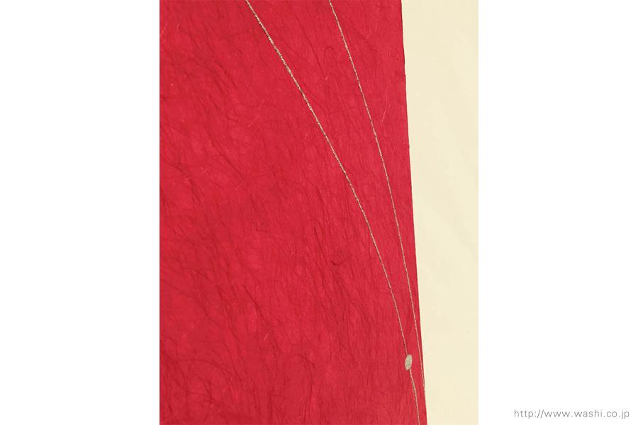 空間装飾/2色和紙屏風(赤・黒)4