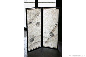 空間装飾/和紙屏風(しぶきデザイン)1