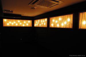和紙照明/壁面(飲食店)1