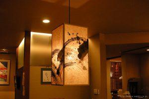 和紙照明/ランプシェード(墨書入)1