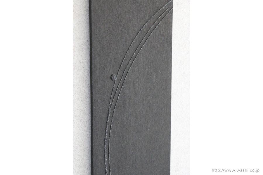 壁掛け花器(和紙のカラスウリと一輪挿し和紙インテリアアートパネル)デザイン部分アップ