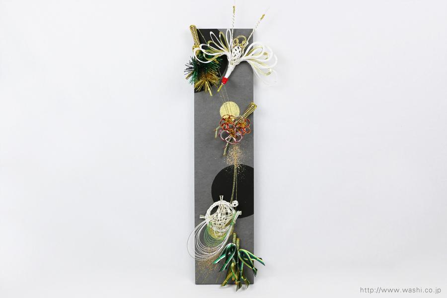 ご祝儀袋と結納品の水引リメイク(アートパネルタイプ)鶴亀松竹梅の水引飾り