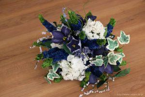 ベロニカとアイビーの和紙の花束・ブーケ(結婚1年目 紙婚式のペーパーフラワー)