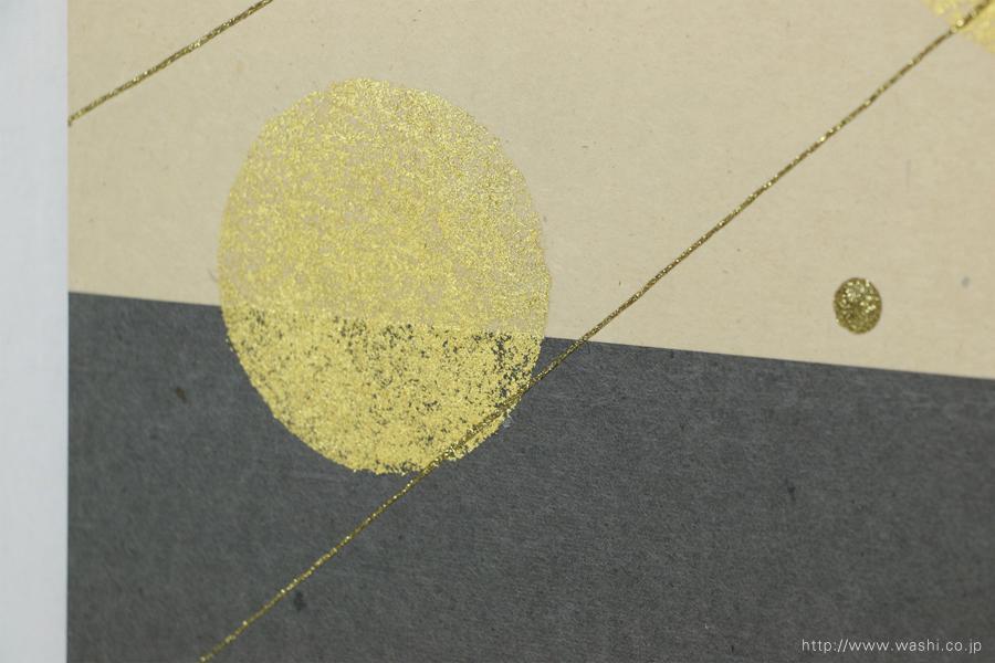 結納品リメイク(和室・床の間用の角サイズアートパネルタイプ)デザイン部分アップ