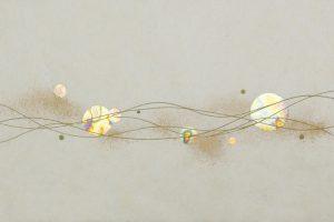 金箔・樹脂の創作加飾デザイン和紙(G-718)