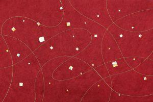 金箔・樹脂の創作加飾デザイン和紙(G-719)