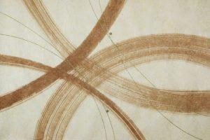 柿渋の創作加飾デザイン和紙(K-702)