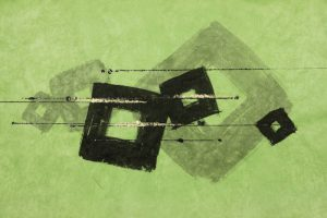 墨金彩の創作加飾デザイン和紙(S-711)