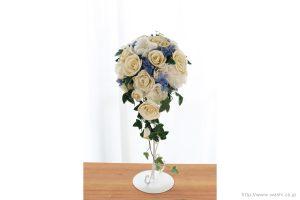 紙婚式ペーパーフラワー|トルコ桔梗とアイビーの和紙ブーケ・花束