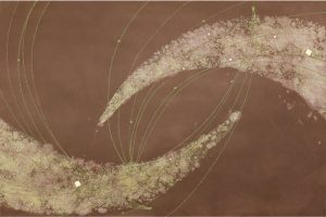 金箔・樹脂の創作加飾デザイン和紙(G-704)