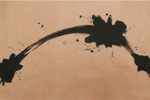 柿渋の創作加飾デザイン和紙(K-707)
