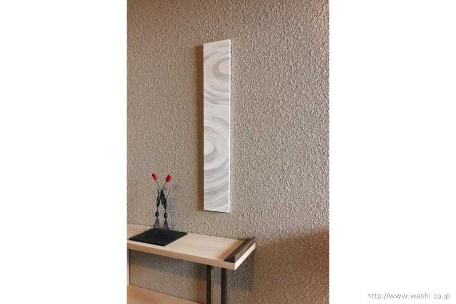和紙アートパネル washi art panel 波紋柄(斜め前)