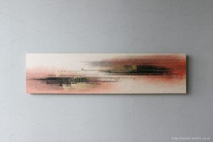 墨・顔料デザイン和紙アートパネル JAPANESE PAPER ART PANEL For living room /SUMI(墨)正面