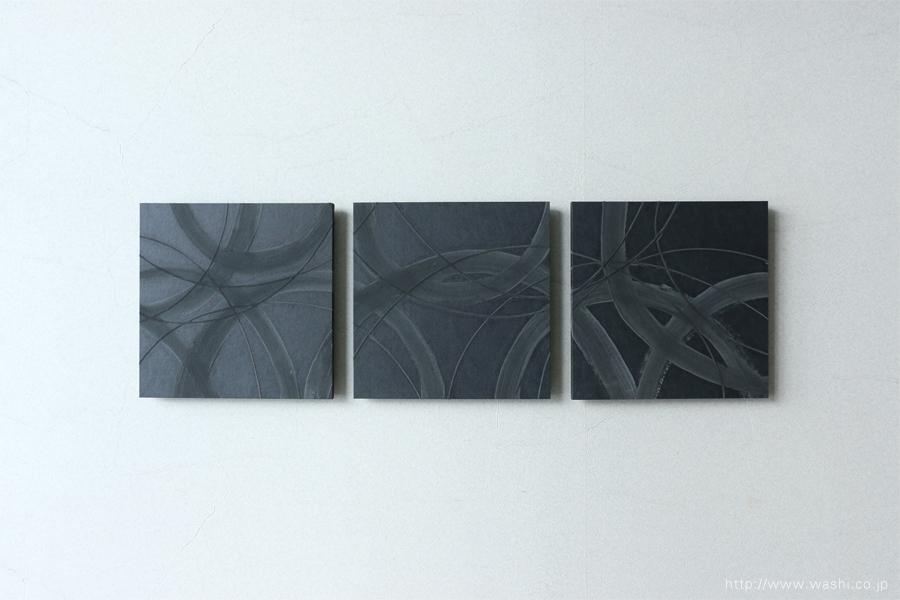 珪藻土デザイン和紙アートパネルJAPANESE PAPER ART PANEL For restroom / Diatomaceous earth (珪藻土)正面