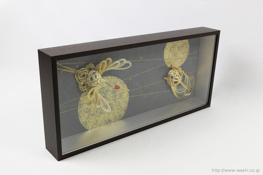 結納品リメイクアートボックス(立体額)左斜め上