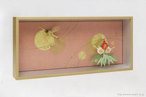 結納品の水引リメイクアートボックス(立体額)鶴と松竹梅
