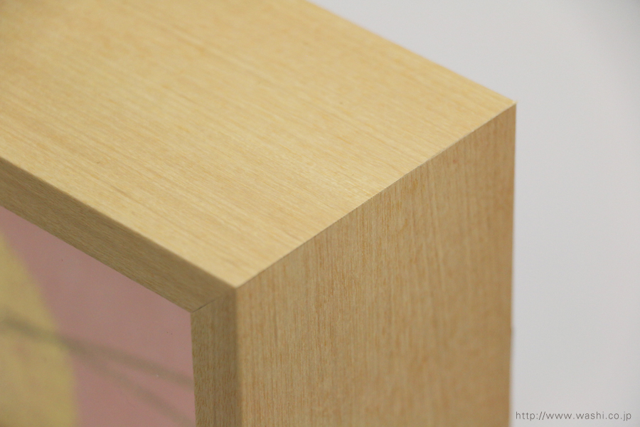 結納品の水引リメイクアートボックス(立体額)メープル色のウッド調フレーム