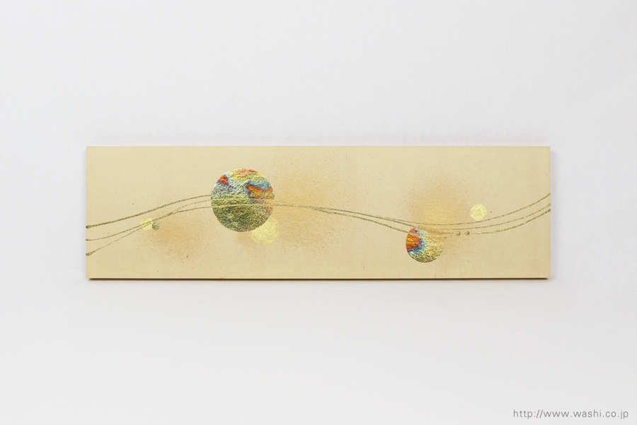 結納品の水引リメイク モダンアートパネル(水引飾り無し)