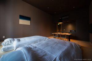 町屋旅館インテリアの和紙アートパネル 室内装飾- Wabi-Sabi Washi wall Art Panel(グラデーション)
