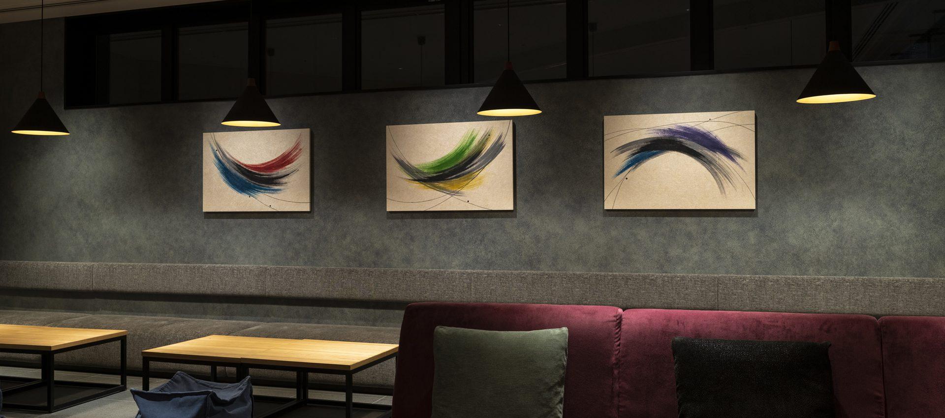 「彩流」和紙インテリアアートパネル(大サイズ画像)ホテル