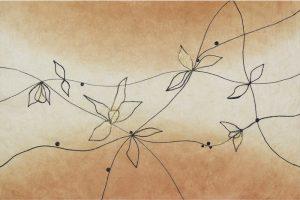 金箔・樹脂の創作加飾デザイン和紙(G-721)