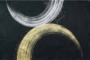金箔・樹脂の創作加飾デザイン和紙(G-722)