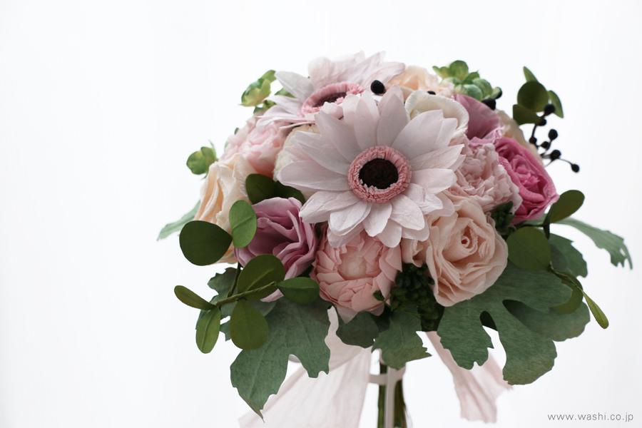 和紙の花ペーパーフラワーブーケ・花束|特別な記念日の贈り物に(正面アップ)